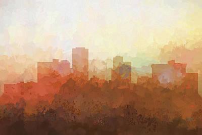 Little Rock Arkansas Skyline Print by Marlene Watson