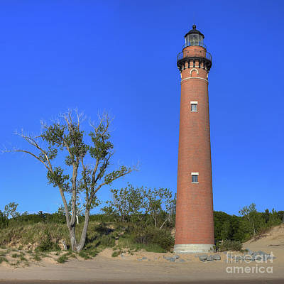 Frame House Photograph - Little Sable Lighthouse by Twenty Two North Photography