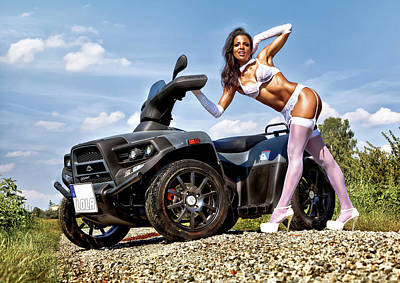 Photograph - Lola Cars And Bikes - Calendar Image by Rod Meier