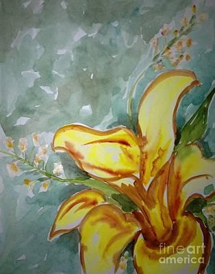 Love Flowers Art Print by Baljit Chadha