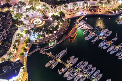 Photograph - Majestic Colorful Dubai Marina Skyline During Night. Dubai Marina, United Arab Emirates. by Marek Kijevsky