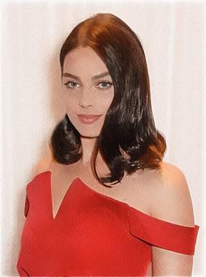 Doppelganger Digital Art - Margot Robbie Painting by Best Actors