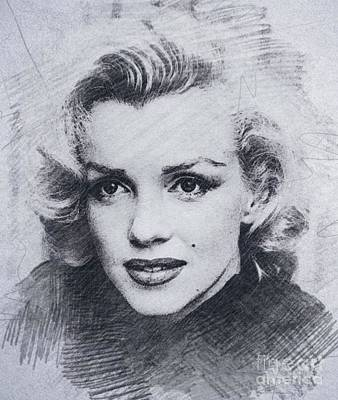 Actors Royalty Free Images - Marilyn Monroe, Actress and Model Royalty-Free Image by John Springfield