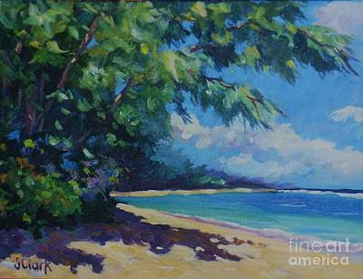 Bvi Painting - 7-mile Beach by John Clark