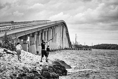 Photograph - 7 Mile Bridge B_w by John McArthur