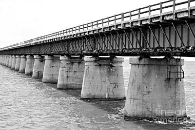 Florida Bridge Photograph - 7 Miles by Kendra Longfellow