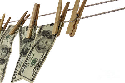Clothesline Photograph - Money by Blink Images