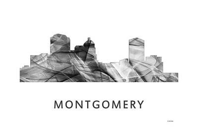 Tag Digital Art - Montgomery Alabama Skyline by Marlene Watson