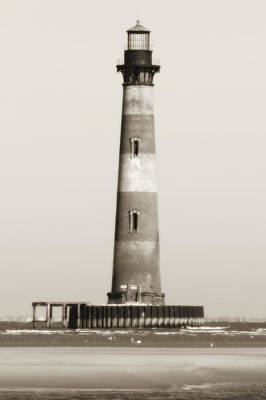 Lighthouses Photograph - Morris Island Lighthouse  by Dustin K Ryan