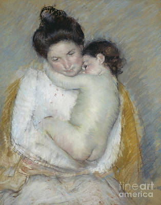 Caring Mother Pastel - Mother And Child by Mary Stevenson Cassatt