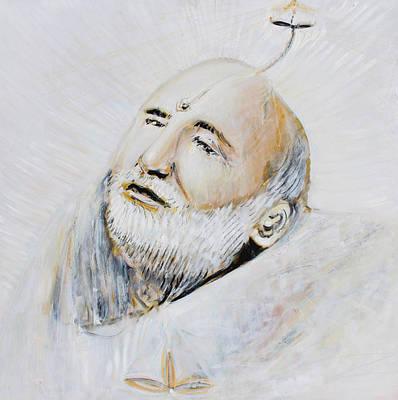 Baba Portrait Painting - Neem Karoli Baba by Alexander Carletti
