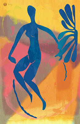 Abstract Pop Drawing - New Pop Art Nude Poster   by Kim Wang