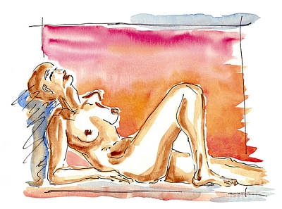 Inviting Drawing - Nude by Michal Boubin