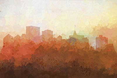 Digital Art - Oakland California Skyline by Marlene Watson