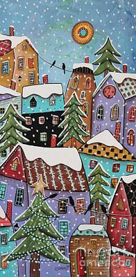 Folk Art Painting - 7 O'clock by Karla Gerard