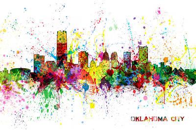 Oklahoma City Skyline Art Print