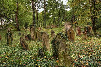 Photograph - Old Jewish Cemetery by Michal Boubin