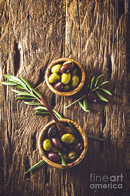 Tasting Photograph - Olives On Branch by Mythja Photography