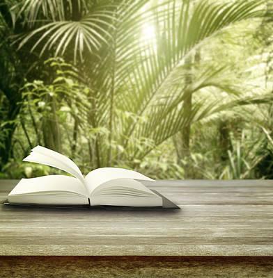 Novel Photograph - Open Book by Les Cunliffe