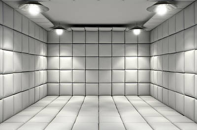 Mental Digital Art - Padded Cell by Allan Swart