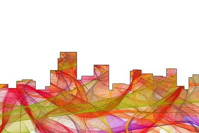 Digital Art - Parsippany New Jersey Skyline by Marlene Watson