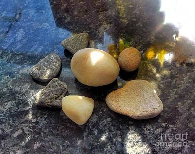 Photograph - 7 Pebbles Still Life by Joan-Violet Stretch