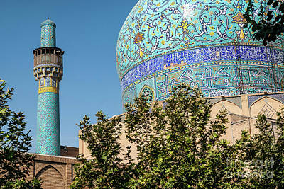 Photograph - Persian Islamic Architecture Detail Of Imam Mosque In Esfahan Is by Jacek Malipan