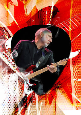 Guitar Mixed Media - Pete Townshend Art by Marvin Blaine