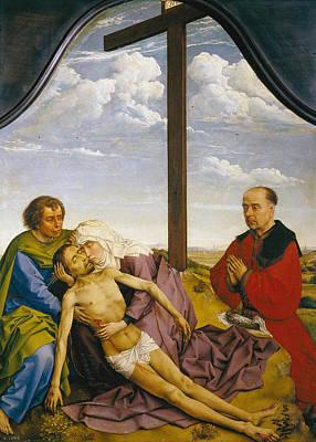 Sorrow Painting - Pieta by Rogier van der Weyden