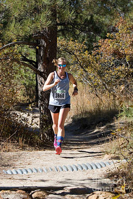 Steven Krull Royalty-Free and Rights-Managed Images - Pikes Peak Road Runners Fall Series III Race by Steven Krull