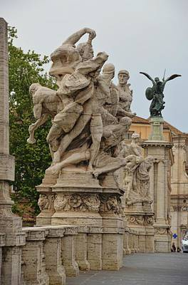 Photograph - Ponte Vittorio Emanuele II Sculpture by JAMART Photography