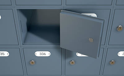 Nothing Digital Art - Post Office Boxes by Allan Swart