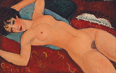 Painting - Reclining Nude by Amedeo Modigliani