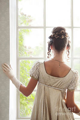 Photograph - Regency Woman At The Window by Lee Avison