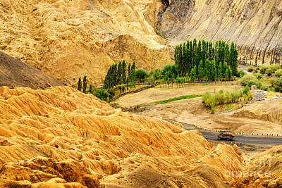 Priska Wettstein Pink Hues - Rocks and stones mountains ladakh landscape Leh Jammu Kashmir India by Rudra Narayan  Mitra