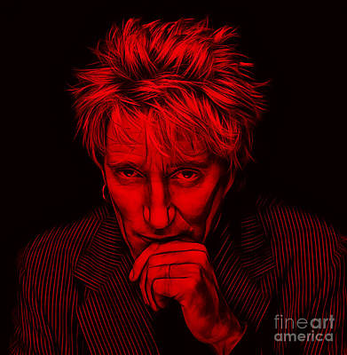 Musician Mixed Media - Rod Stewart Collection by Marvin Blaine