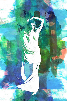Rosie Nude Fine Art Print From Painting In Sensual Sexy Color 47 Art Print by Kendree Miller
