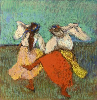 Russian Girl Wall Art - Painting - Russian Dancers by Edgar Degas