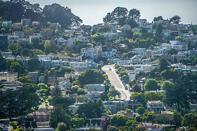 Photograph - San Francisco City Neighborhoods And Street Views On Sunny Day by Alex Grichenko