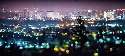 Photograph - San Jose California City Lights Early Morning  by Alex Grichenko