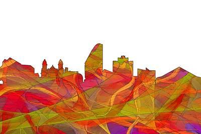 Digital Art - San Jose California Skyline by Marlene Watson