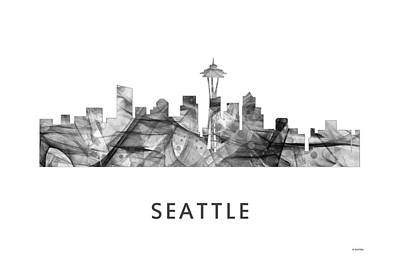 Wa Digital Art - Seattle Washington Skyline by Marlene Watson