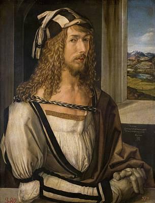 Self Portrait Painting - Self-portrait by Albrecht Durer