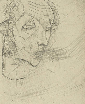 Relief - Self Portrait by Egon Schiele