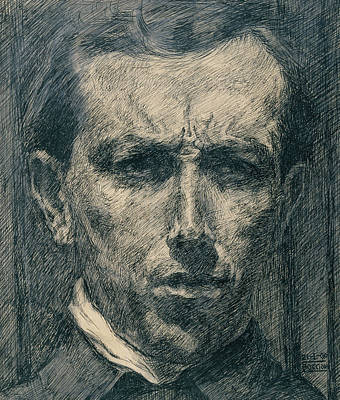 Boccioni Drawing - Self-portrait by Umberto Boccioni