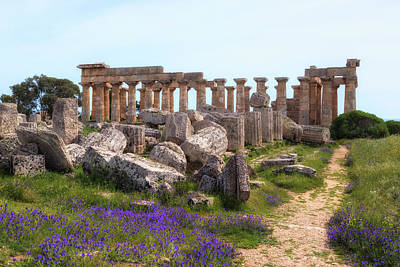 Greek Temple Photograph - Selinunte - Sicily by Joana Kruse