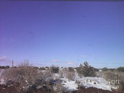 Western Photograph - Snowy Desert Landscape by Frederick Holiday