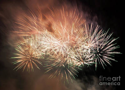 Anniversary Photograph - Spectacular Fireworks Show Light Up The Sky. New Year Celebration. by Michal Bednarek