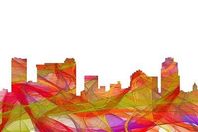 Digital Art - St Petersburg Florida Skyline by Marlene Watson