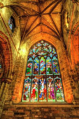 Photograph - Stained Glass Window by David Pyatt